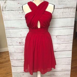 Lulu's red halter cocktail dress, size L